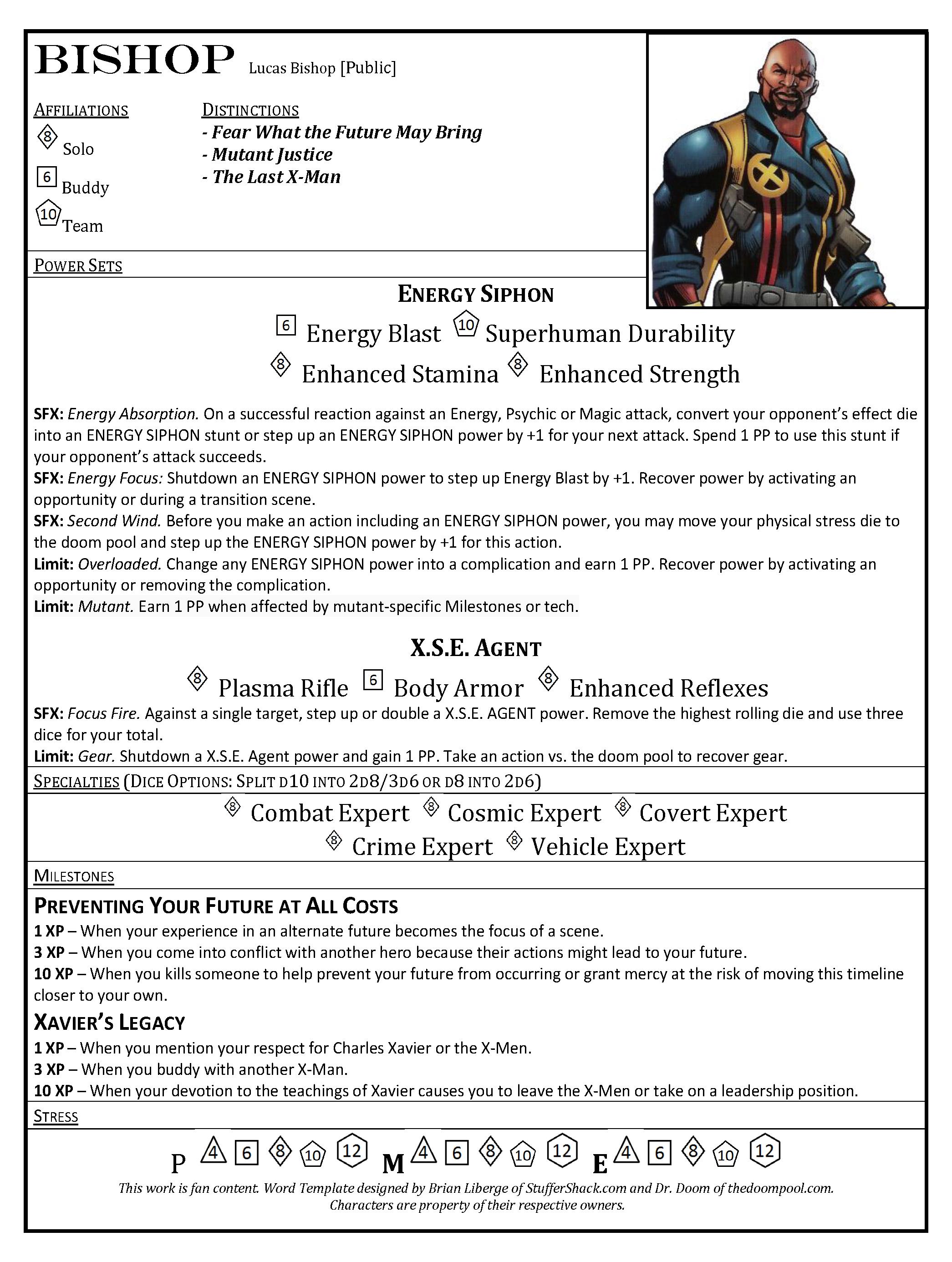 Bishop – Marvel Datafile | STUFFER SHACK
