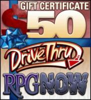 $50 Gift Certificate Donated by DriveThruRPG!