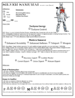 Silver Samurai - Marvel Editable Datafile